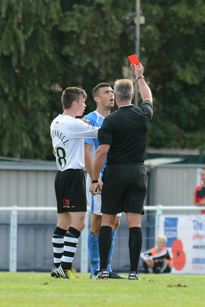 Michael Green receives a late red card