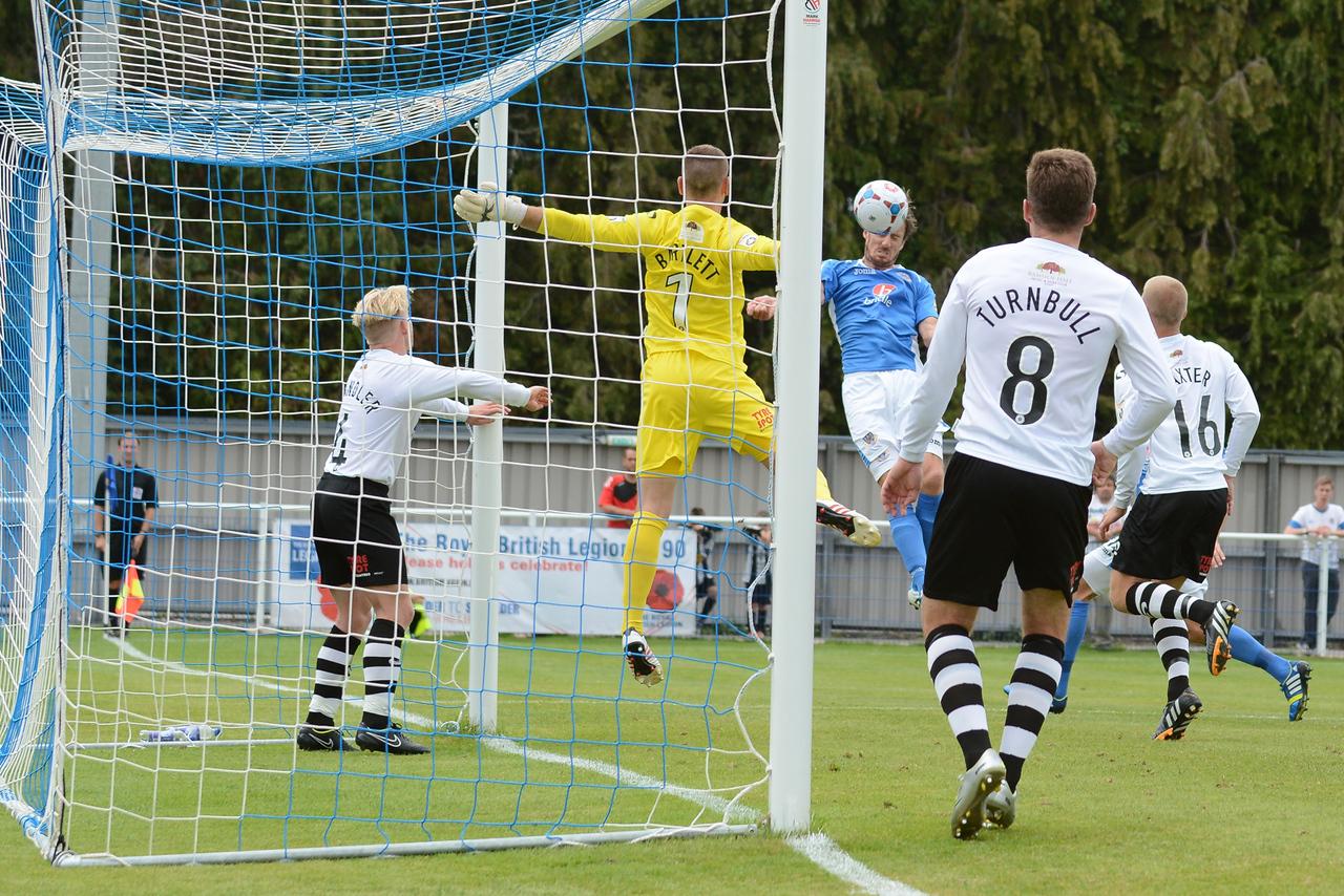 Jack Midson heads Eastleigh 2-1 ahead