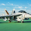 US Navy F/A-18 Super Hornet on static display