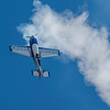Bob Freeman, a veteran aerobatic pilot, stalls his aircraft as he prepares to make and inverted rollat the 2017 Vectren Dayton Air Show.