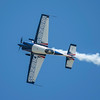 Bob Freeman, a veteran aerobatic pilot, setting up for an inverted pass at the 2017 Vectren Dayton Air Show.