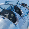 A military trainer on display at the Rockford Air Show in Rockford, IL; June 2013.<br /> <br /> Image 3 of 3