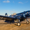 """F4U-5 Corsair """"Whistling Death"""".  This fighter was the main stay of the US Navy and Marine Corps during the WWII Pacific campaign.  Image taken at the 2013 Wings Over Houston Air Show, October 26-27, 2013"""