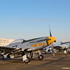 """Grumman P-51D Mustang """"Little Horse"""" and other P-51s on the flight line at the Wings Over Houston Airshow, held October 26-27, 2013.<br /> This image is sized at 2x3"""