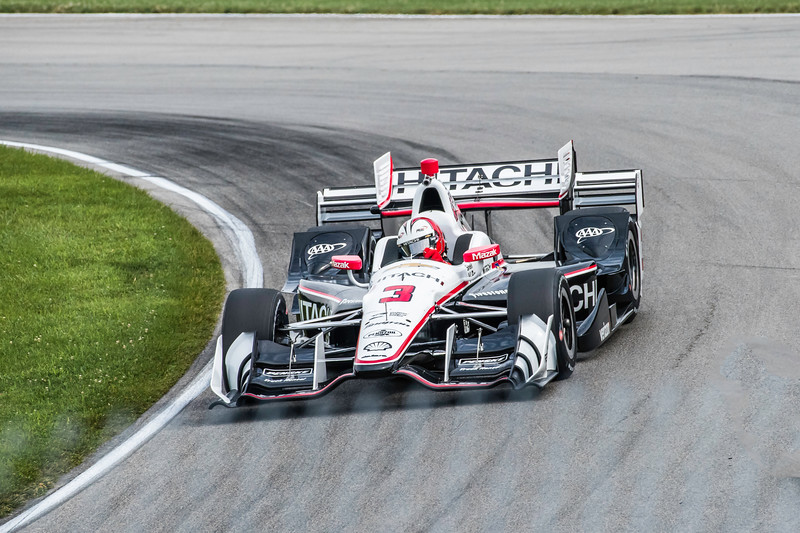 Helio Castroneves in his final Mid Ohio appearance for Team Penske.