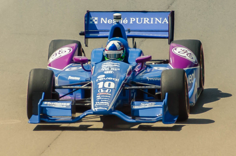 Dario Franchitti guides the #10 Purina Ganassi Honda through the Esses at the Mid-Ohio Sorts Car Course in Lexington, Ohio; during practice for the 2013 Honda Indy 20<br /> <br /> Dario finished 3rd in what would turn out to be one of his last races as he went on to suffer career ending injuries during a last lap crash in October in  Houston.