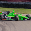 Driver James Hinchcliffe, driving the #27 Go Daddy Andretti Chevrolet loses control entering the Carousel at the Mid Ohio Sports Car Complex during practice for the Honda Indy 200.<br /> <br /> Image 2 of 6 in the crash sequence.<br /> <br /> James finished in 10th place