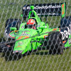 Somebody get me a tow truck please! Driver James Hinchcliffe, driving the #27 Go Daddy Andretti Chevrolet loses control entering the Carousel at the Mid Ohio Sports Car Complex during practice for the Honda Indy 200.<br /> <br /> Image 6 of 6 in the crash sequence.<br /> <br /> James finished in 10th place