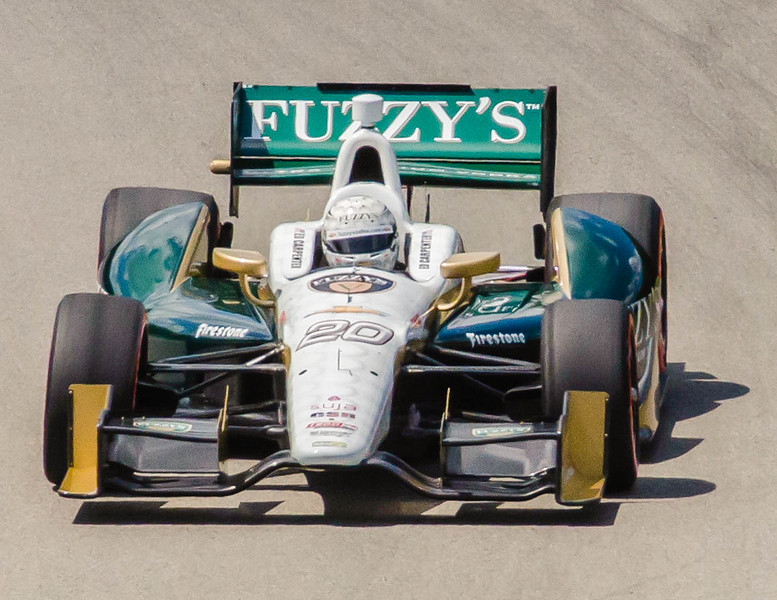 Driver/Owner Ed Carpenter driving the #20 Ed Carpenter Chevrolet through the Esses at the Mid Ohio Sports Car Complex during practice for the Honda Indy 200.<br /> <br /> Ed finished 20th