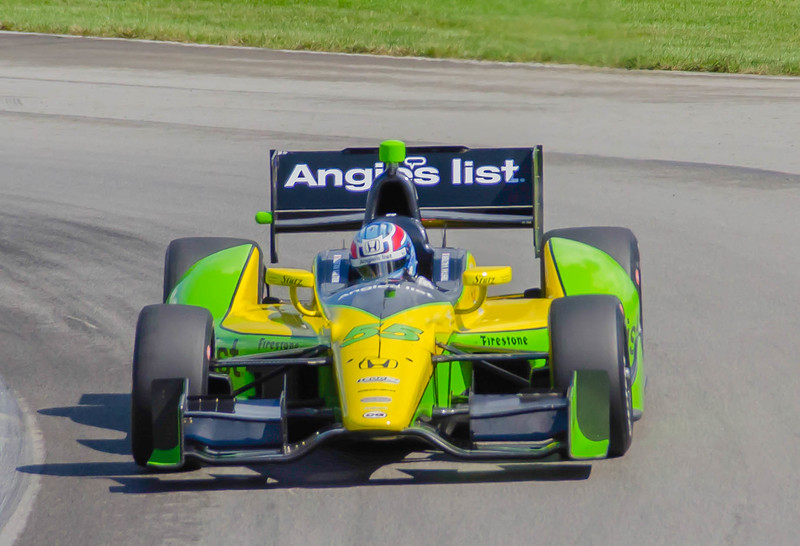 "Tristan Vautier, driving the Angies List Schmidt Honda; negotiates the series of turns known as the ""Esses"" at the Mio-Ohio Sports Car Complex in Lexington, Ohio; during practice.<br /> <br /> Tristan finished 21st"