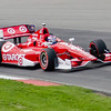 Scott Dixon, driving the #9 Target Ganassi Honda on the course during practice for the Honda Indy Car 200 at the Mid Ohio Sports Car Complex in Lexington, Ohio.<br /> <br /> Scott claimed critical points for finishing 7th here, while winning his second consecutive driving title.
