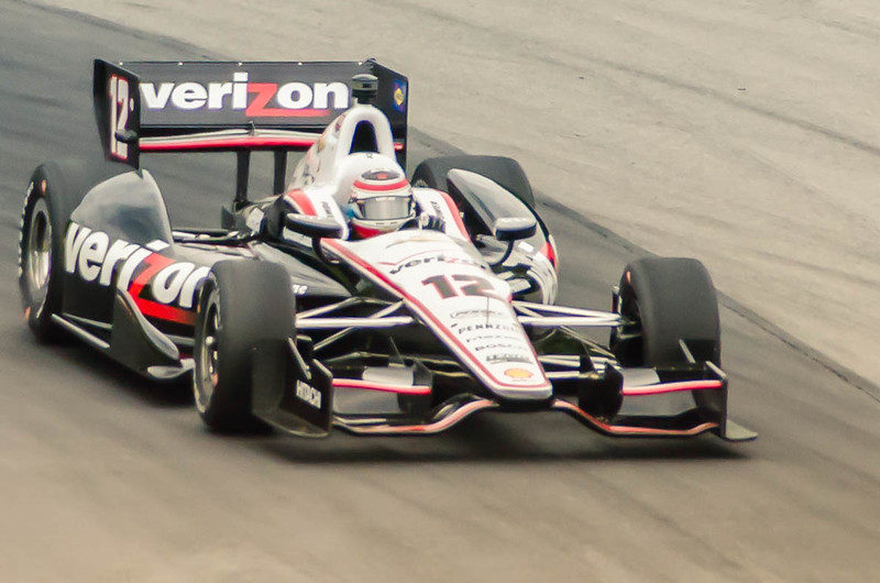 Will Power pilots the #12 Penske Chevrolet through the Esses at the Mid-Ohio Sorts Car Course in Lexington, Ohio; during practice for the 2013 Honda Indy 200.<br /> <br /> Will finished 4th