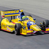 2013 Indy 500 winner Tony Kanaan pilots the  #11 Sunoco Honda through the Esses at the Mid-Ohio Sorts Car Course in Lexington, Ohio; during practice for the 2013 Honda Indy 20<br /> <br /> Tony finished 24th<br /> <br /> Image 1 of 2