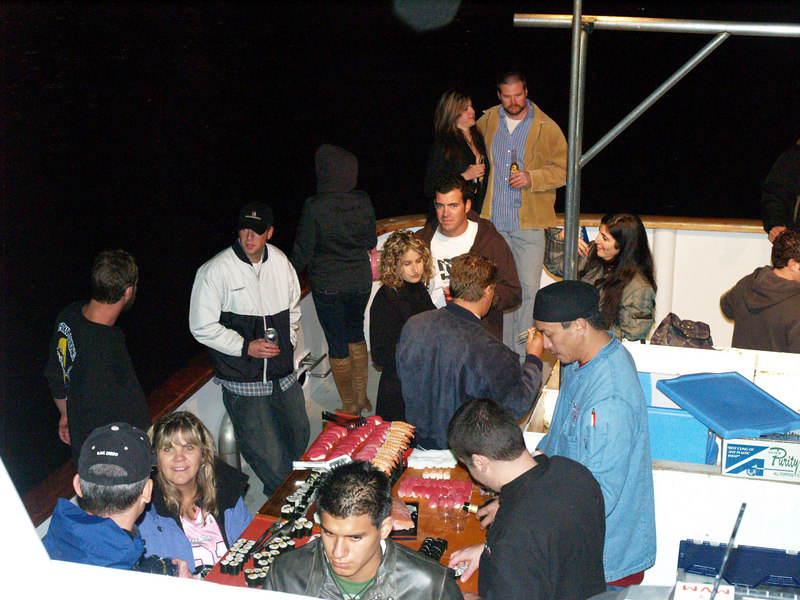 On December 17, 2006, it's the Parade of Lights with Sushi on a Roll on the party boat Condor for Action Ski and Snowboard Club