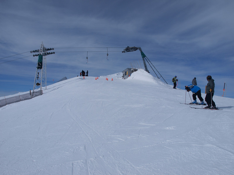 The top of Summit Platter lift<br /> Lake Louise Ski Area<br /> Banff National Park<br /> Alberta, Canada