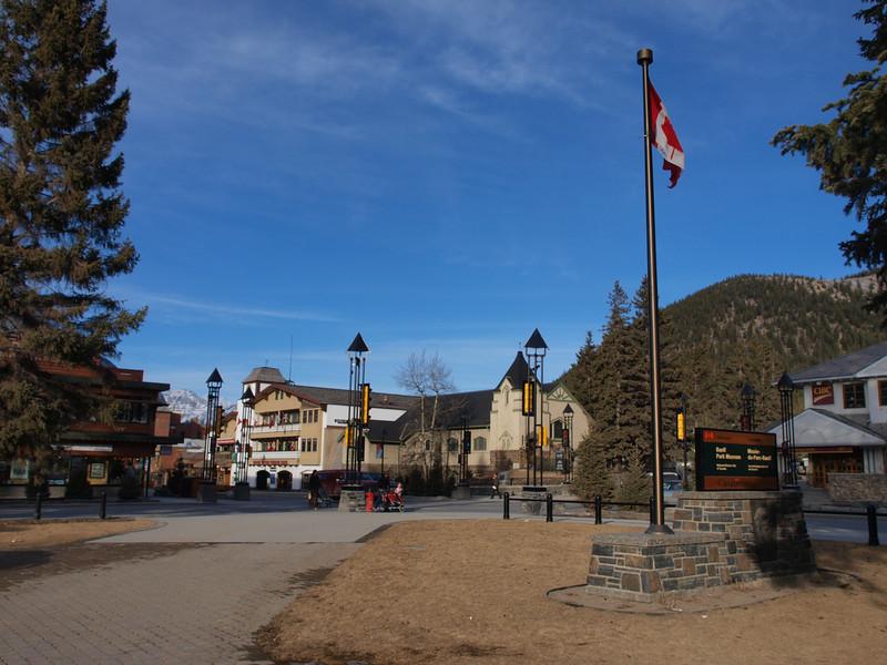 Banff from Banff Park Museum<br /> Banff Avenue<br /> Banff, Alberta