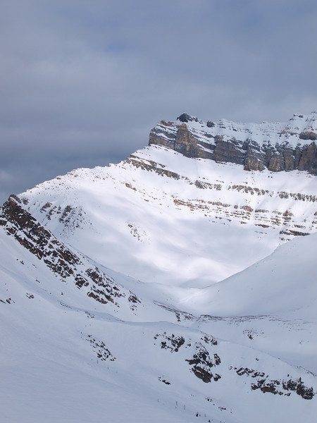 Ptarmigan Mountain<br /> Backside backcountry<br /> Lake Louise Ski Area<br /> Banff National Park<br /> Alberta, Canada