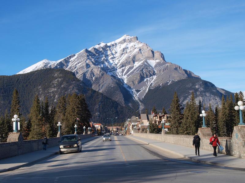 Cascade Mountain<br /> Bow River Bridge<br /> Banff Avenue<br /> Banff, Alberta