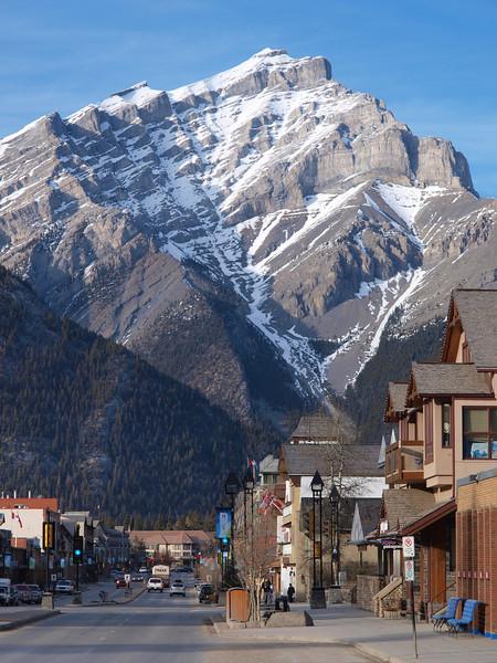 Cascade Mountain<br /> Banff Avenue<br /> Banff, Alberta