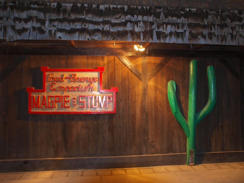 "Magpie & Stump<br /> ""Authentic Tex-Mex Cuisine""<br /> Caribou Street<br /> Banff, Alberta"