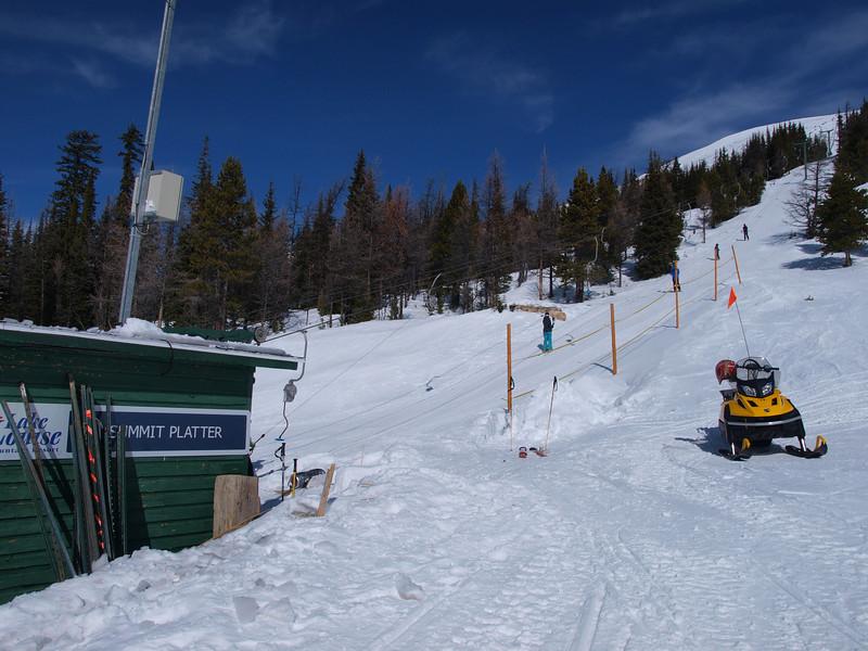 Summit Platter lift<br /> Lake Louise Ski Area<br /> Banff National Park<br /> Alberta, Canada