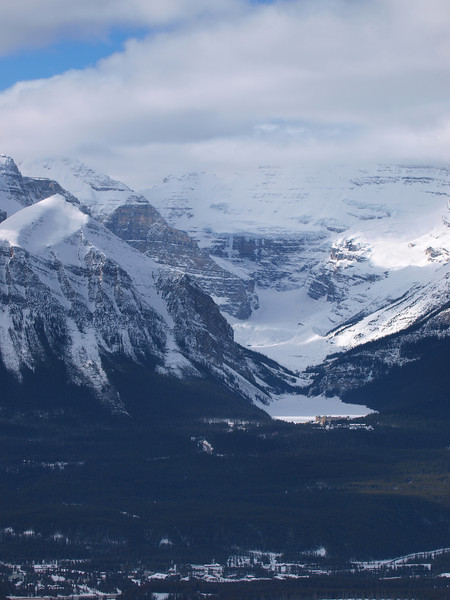 Chateau Lake Louise<br /> Lake Louise<br /> Fairview Mountain<br /> Mount Victoria<br /> Banff National Park