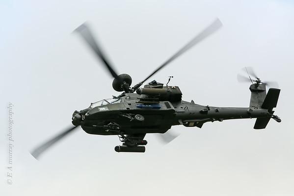 Apache attack copter underside