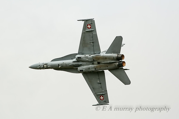 Swiss F18 undercarriage view