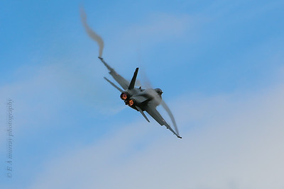 Swiss F18 afterburners on
