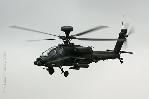 Apache attack copter side view