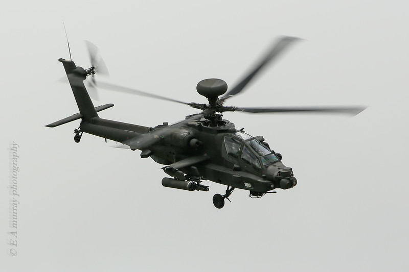 Apache attack copter front view