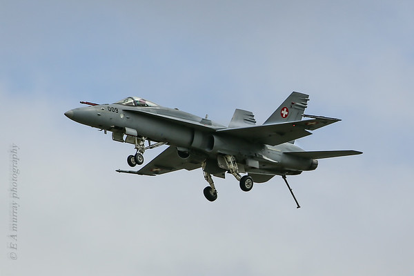 Swiss F18 landing gear