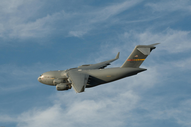 <h3>A C-17 takes off from March Air Reserve Base.