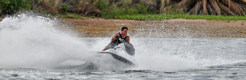 Jet skiing on the Colorado River in Laughlin, NV