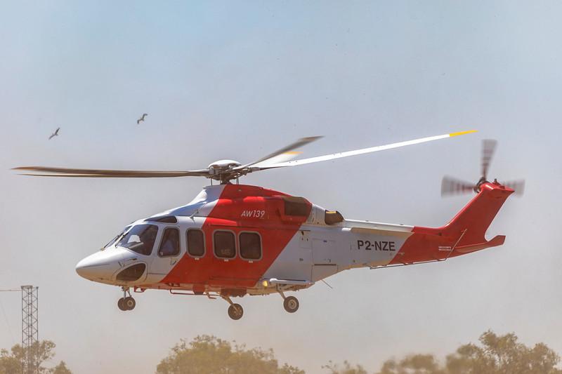 Helifix AgustaWestland AW139 P2-NZE at Rockhampton Airport