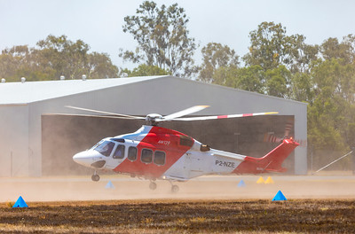 Helifix AgustaWestland AW139 P2-NZE at Rockhampton Airport