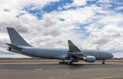 Royal Australian Air Force KC-30A (A330-200MRTT) A39-005 stopping over at Rockhampton Airport 2020-01-07.