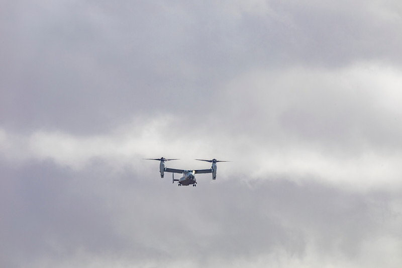 USMC Bell Boeing V-22 Osprey 168633 landing at Rockhampton Airport during Talisman Saber 07-07-19