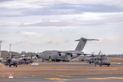 United States Air Force C17A Globemaster III 80056 at Rockhampton Airport during Talisman Saber, 06-07-2019