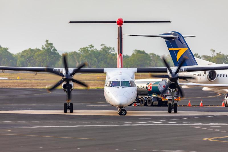 QANTAS De Havilland Dash-8 Q400 VH-QOF at Rockhampton Airport