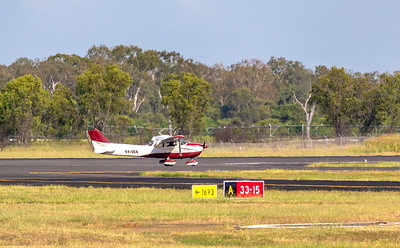 Peace Cessna 172N flying from Rockhampton Airport 25-01-19.