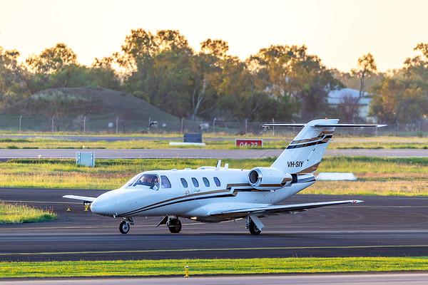Machjet Cessna Citation 525 VH-SIY landing at Rockhampton Airport 22-03-2019