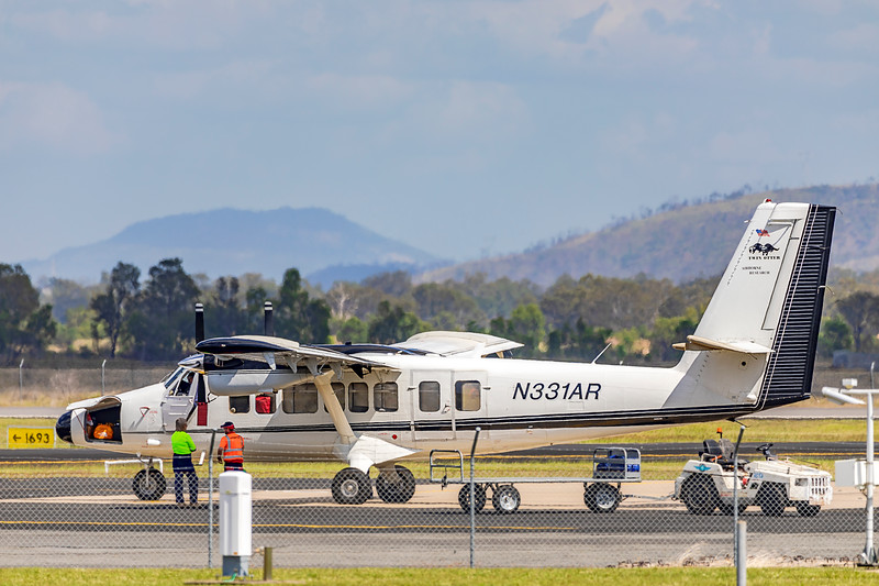Twin Otter International De Havilland DHC-6-300 N331AR landing at Rockhampton Airport 28-04-2019