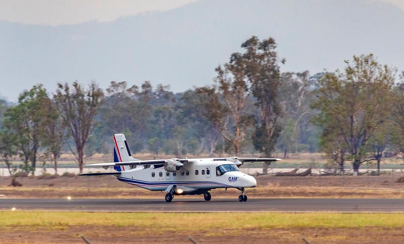 General Aviation Maintenance Dornier DO 228-202 VH-VJN landing at Rockhampton Airport