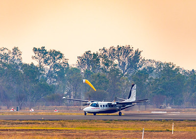 NSW Rural Fire Service Gulfstream Jetprop Commander at Rockhampton Airport