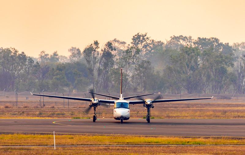 NSW Rural Fire Service Gulfstream Jetprop Commander at Rockhampton Airport