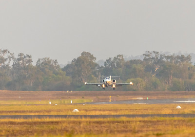 Learjet 35 VH-LPJ at Rockhampton Airport