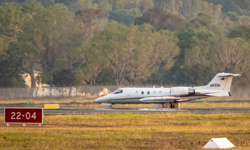 Learjet 35 VH-LPJ at Rockhampton Airport