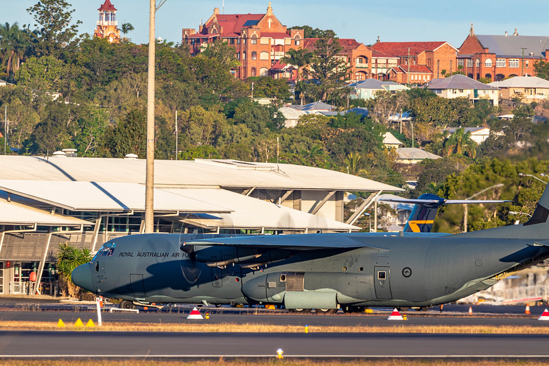 Royal Australian Air Force C-130J Hercules A97-465 landing at Rockhampton Airport 09-06-2019