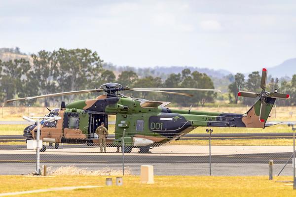 Royal Australian Army MRH90 Taipan A40-042 at Rockhampton Airport 04-02-19
